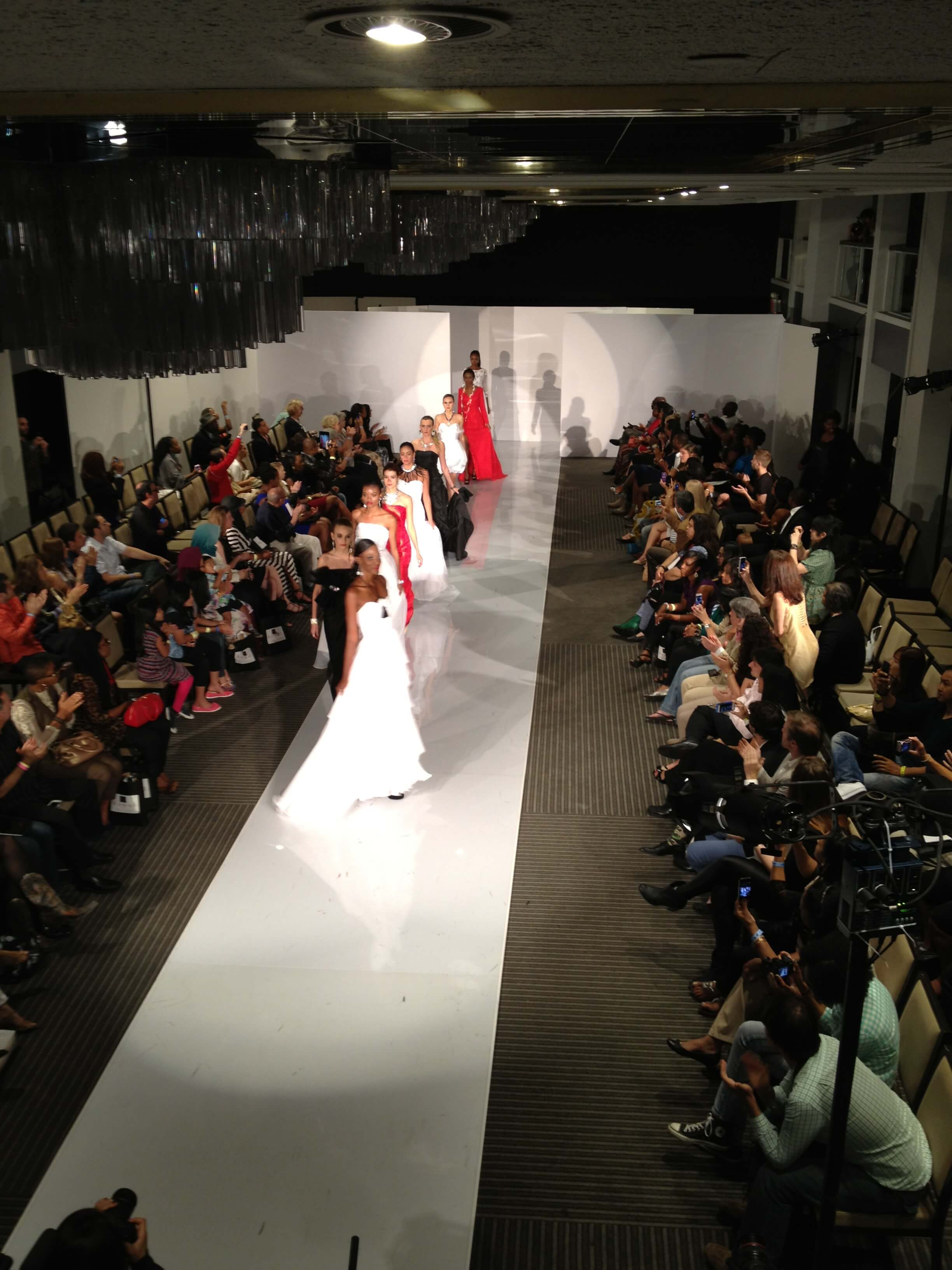 Fashion Collection Colors of Tango. NYC Fashion Week