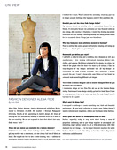 Charleston Style and Design magazins. Fall 2011. Fashion Designer Alena Fede. Page 78